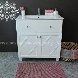 шкаф мивка за баня рустика