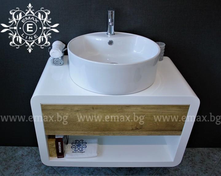 дървесен шкаф за баня