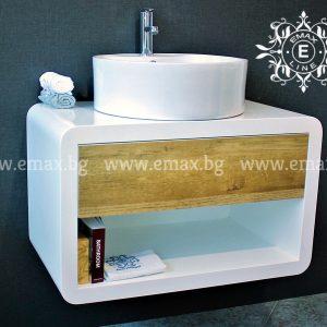 Модена 2 –  водоустойчив ПВЦ модерен шкаф за баня 80 см