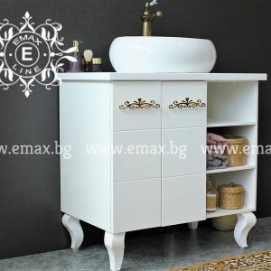 Мила - водоустойчив ПВЦ шкаф с мивка купа 80  см