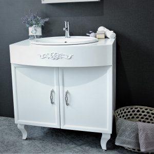Виола – водоустойчив ПВЦ шкаф с мивка за баня 80 см