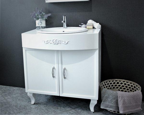 ПВЦ шкаф с мивка за баня