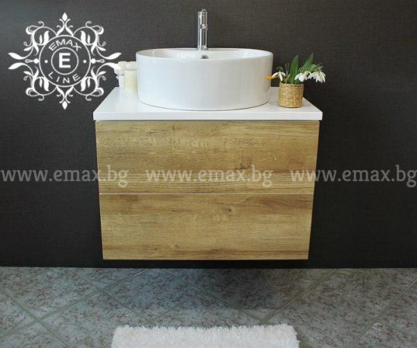 Форест 2 – водоустойчив ПВЦ дървесен шкаф с мивка купа 70 см Промоция