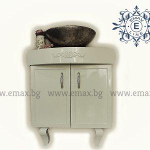 Корнър – водоустойчив ПВЦ ъглов шкаф за баня с мивка купа Промоция