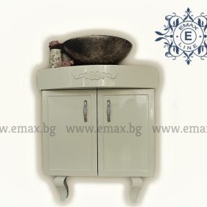 Корнър – водоустойчив ПВЦ ъглов шкаф за баня с мивка купа