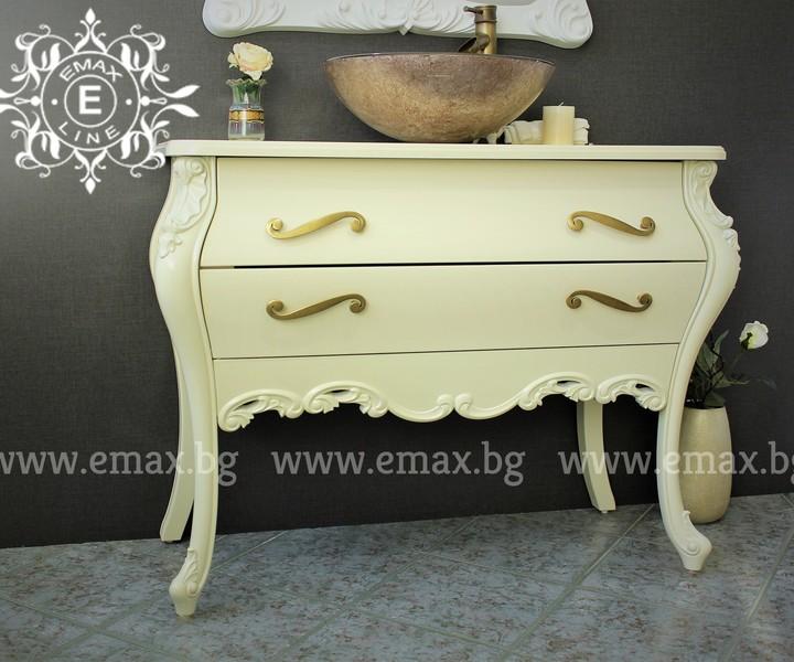 луксозен шкаф за баня пвц с мивка