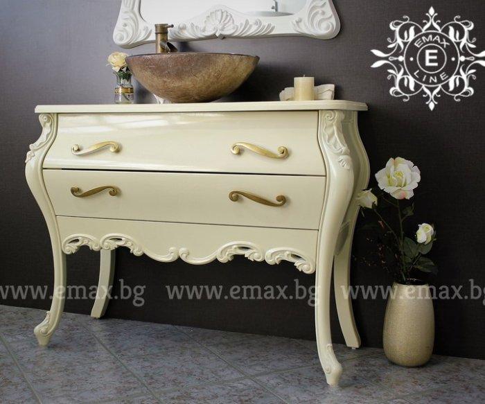 бароков шкаф за баня пвц с мивка купа