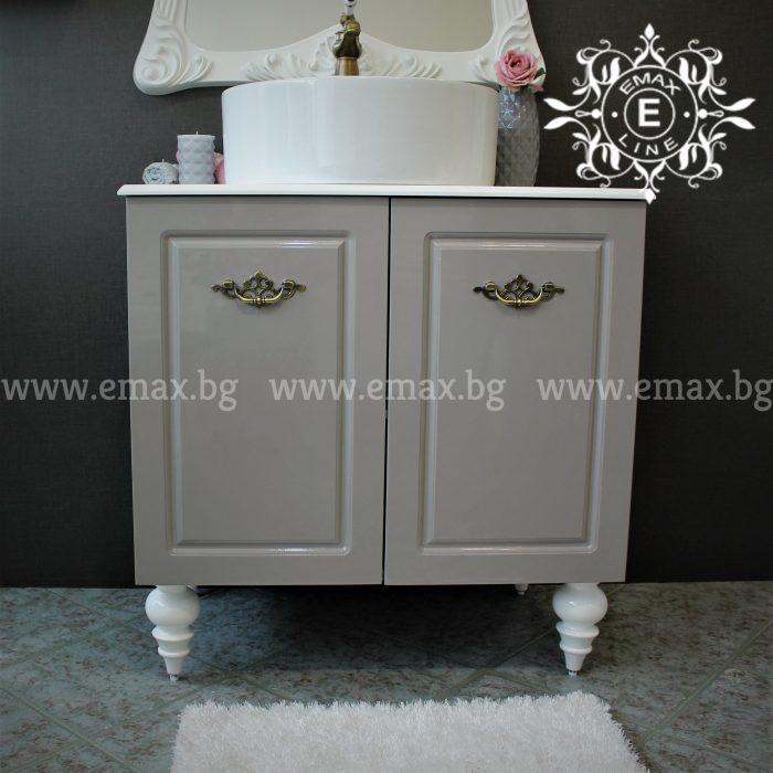 ПВЦ шкаф за баня с мивка купа