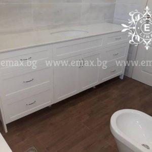 ретро мебели за баня с две мивки