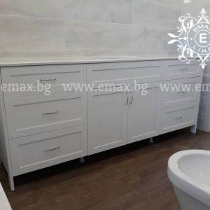 ретро шкаф за баня с де мивки