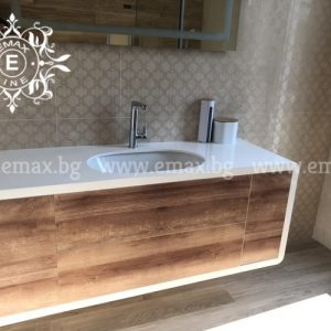 Овал 3 – водоустойчив долен шкаф за баня ПВЦ 150 см
