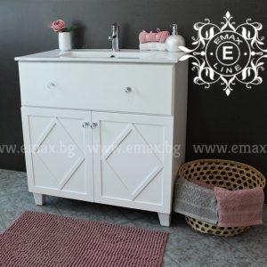Рустика – Мивка с шкаф за баня 80 см