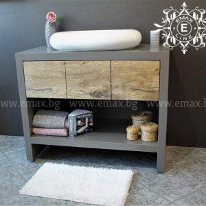 Сити – водоустойчив ПВЦ шкаф за баня с мивка 100 см