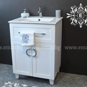 Комфорт – шкаф с мивка за баня ПВЦ 60 см