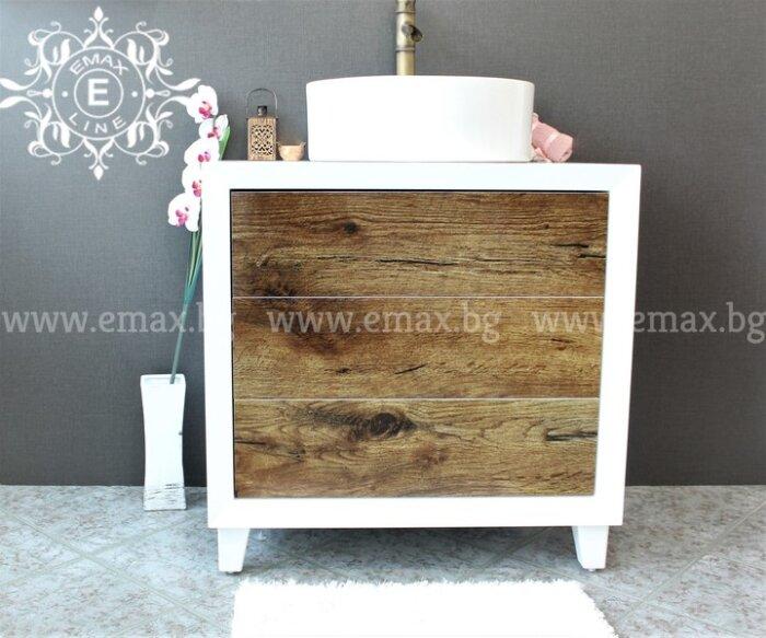дървесен модерен пвц шкаф за баня