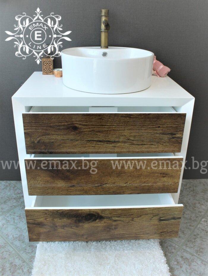 дървесен шкаф за баня пвц