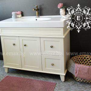 Комфорт Плюс – водоустойчив ПВЦ  шкаф с мивка за баня 100 см