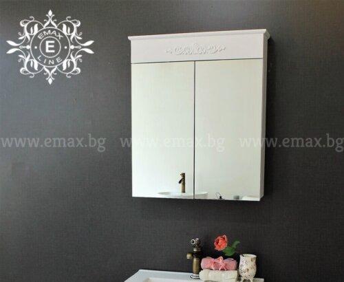 Горен шкаф за баня PVC Романтик