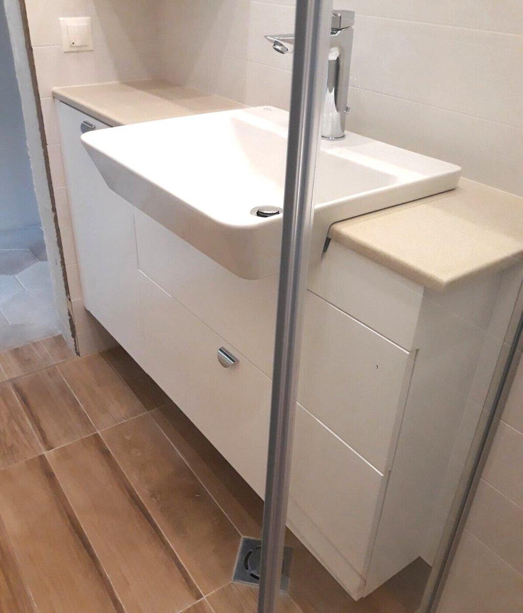 долен шкаф за баня конзолен пвц