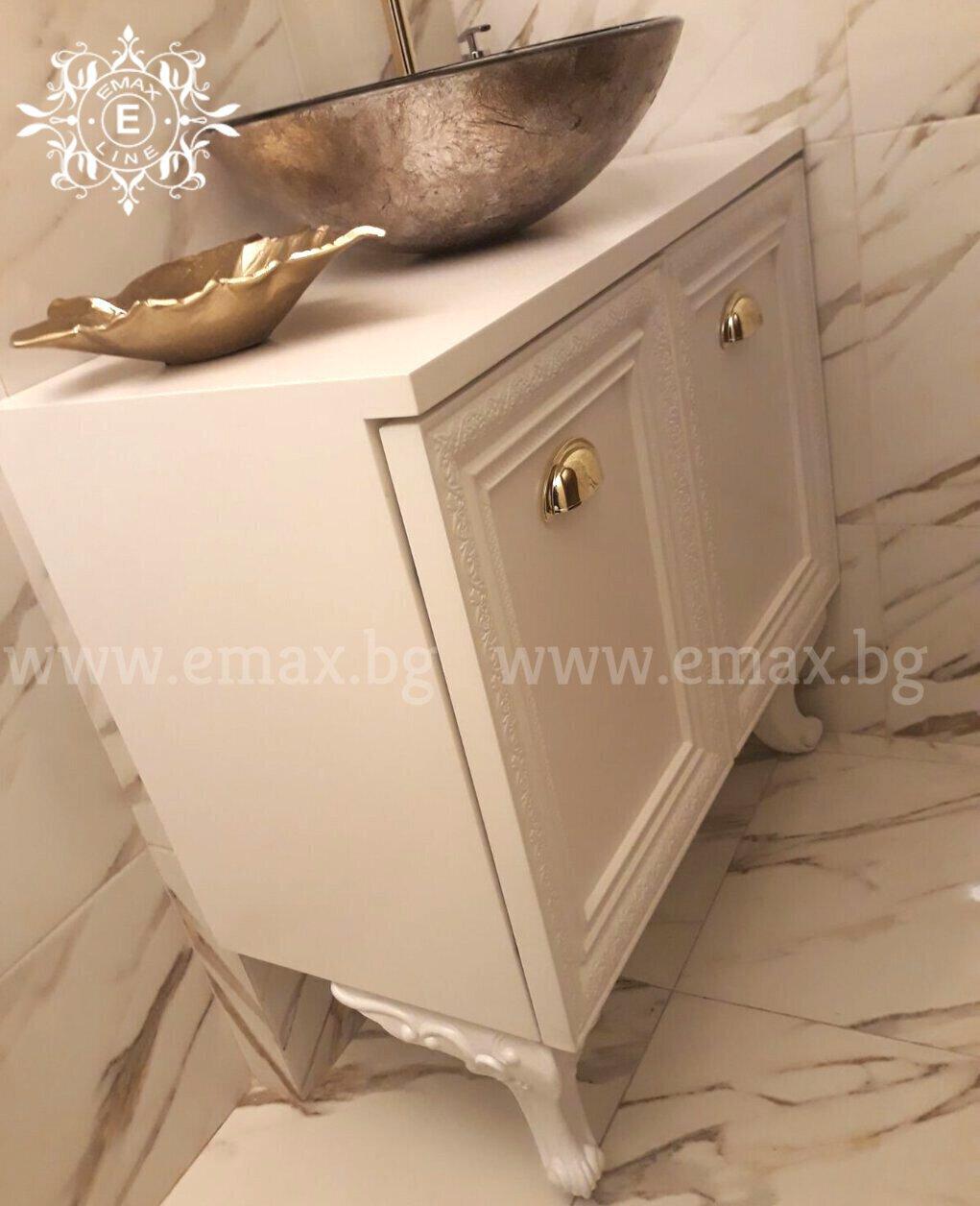 долен шкаф за баня pvc с мивка купа
