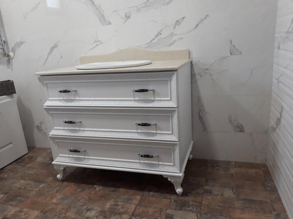 долен шкаф за баня пвц с чекмеджета