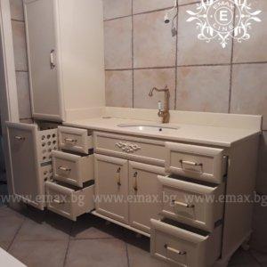 долен шкаф за баня пвц с шкаф колона за баня с кош за пране