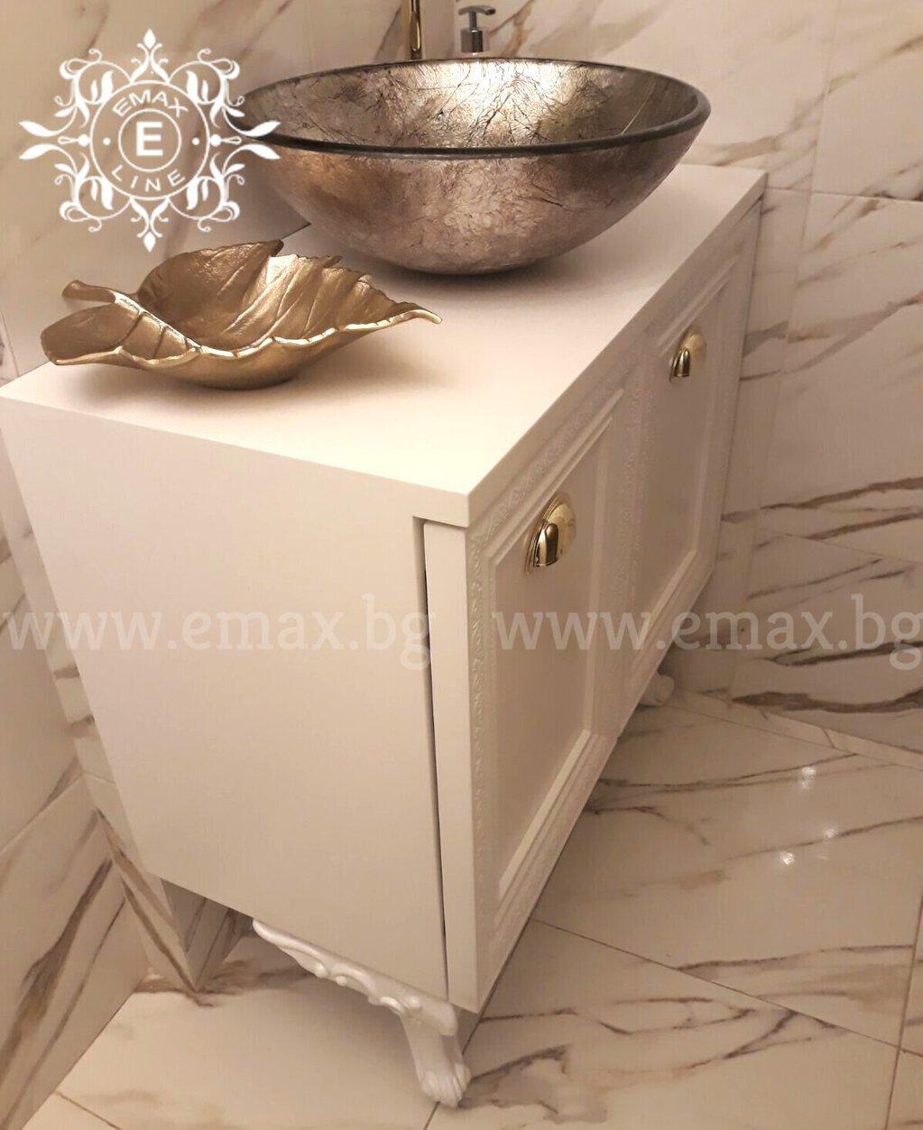 долен шкаф за баня пвц с врати и мивка