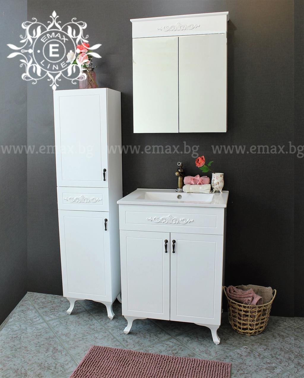 комплект шкафове за баня Романтик