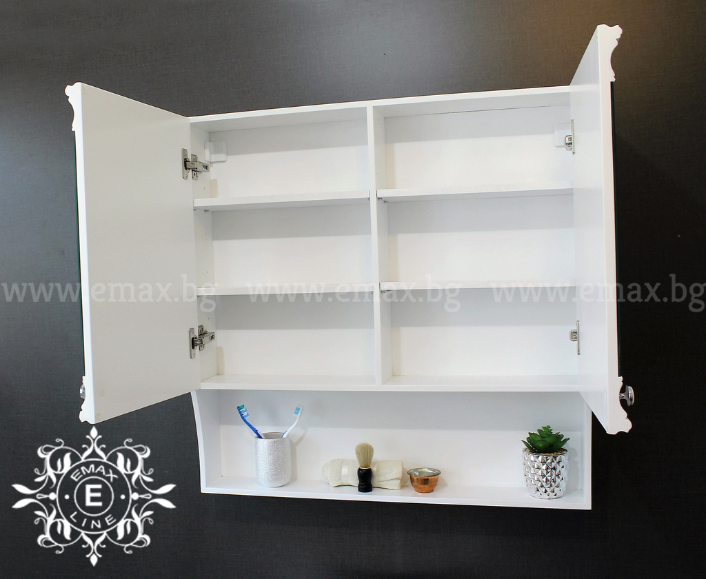 пвц огледален шкаф за баня класик