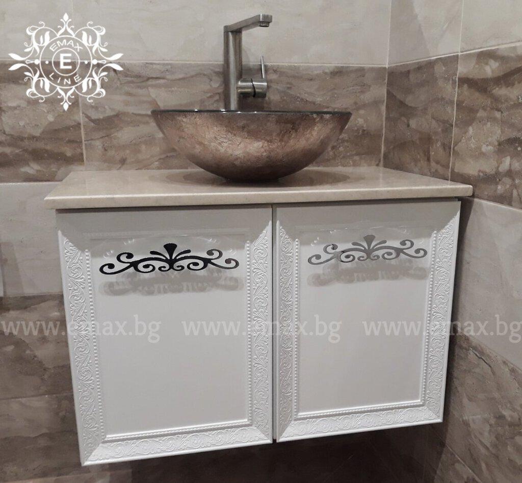 стенен шкаф за баня пвц конзолен