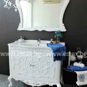 луксозен шкаф за баня с огледало